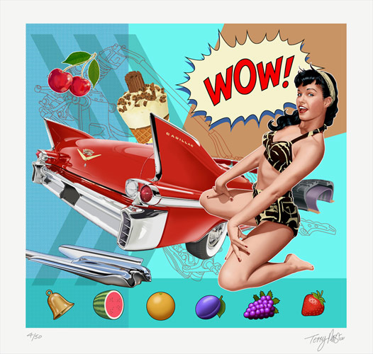 Terry Pastor - Ride Bettie Ride - Giclee Print