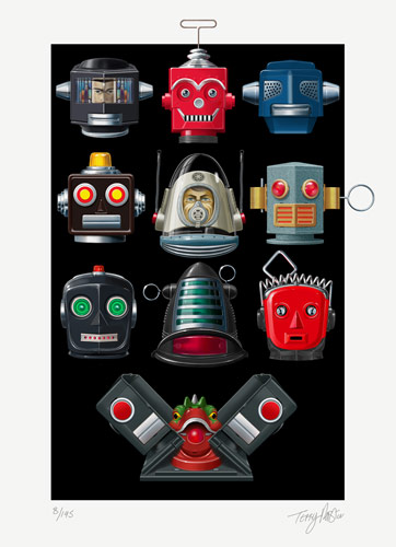 Terry Pastor - Robot - Giclee Print